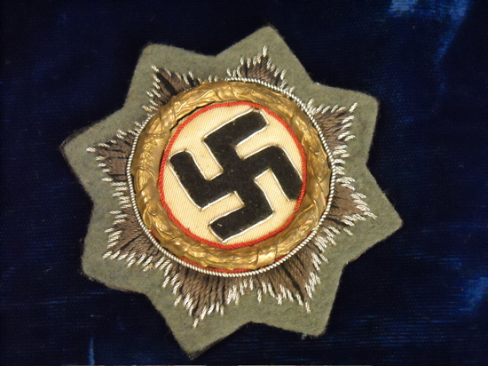 Welcome to VictoryMilitaria com - GERMAN CROSS IN GOLD CLOTH VERSION